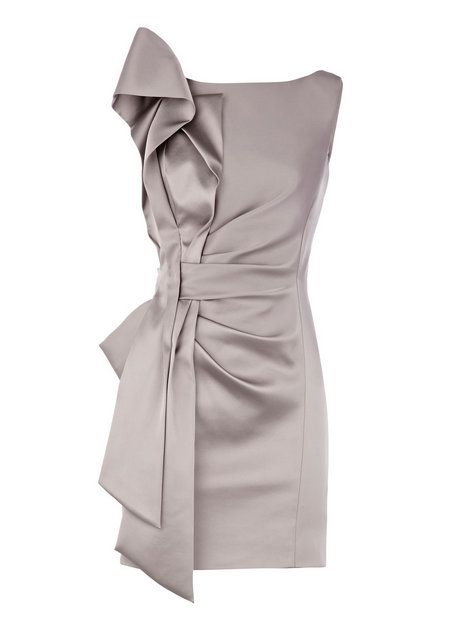Grey Sleeveless Polyamide Mother of the Bride Dress