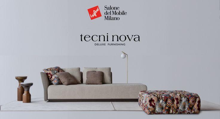 Sofa modular 1742. Pouff tapizado tela de flores, capitone. Coleccion 2017. Fortune. Tecni nova.