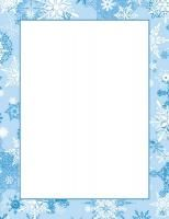 """Flurries Letterhead Paper Weight: 24 lb Size: 8.5""""x11"""" InkJet & Laser Compatible Stock is 30% Post Consumer Recycled Paper Qty: 50 Sheets #HolidayLetterhead #ChristmasComputerPaper"""