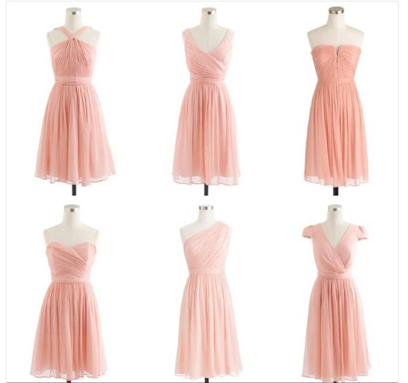 J crew dusty rose bridesmaid dresses | love the different styles to be work by different bridesmaids