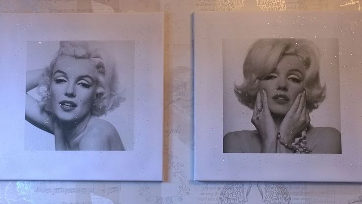 Two Marilyn Diamond Dusted Canvases in Platinum ...buy them here..http://www.ebay.co.uk/usr/violetlovesdiamonds