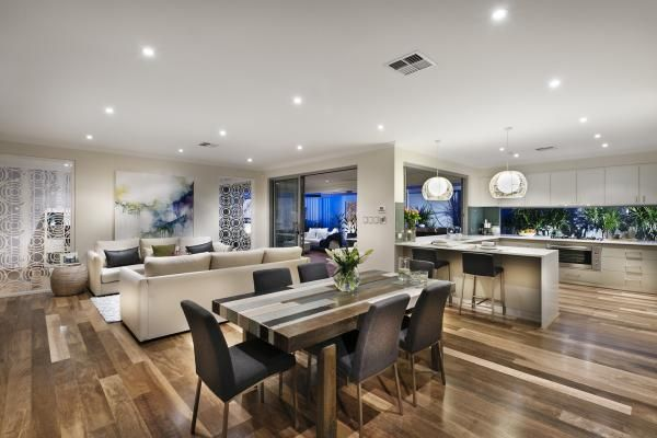 Love the floors kitchen archipelago display home photo for Display home kitchens