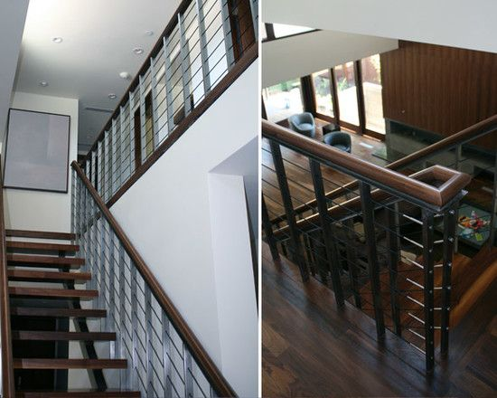 Best Modern Wood Staircase Design Using Metal Balustrade And 400 x 300