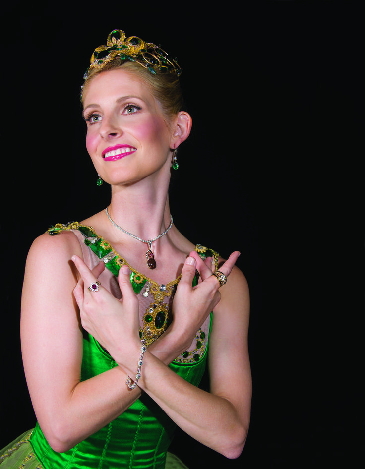 PIECE DE RESISTANCE: Magnificent jewelry modeled by Sarasota Ballet dancers.