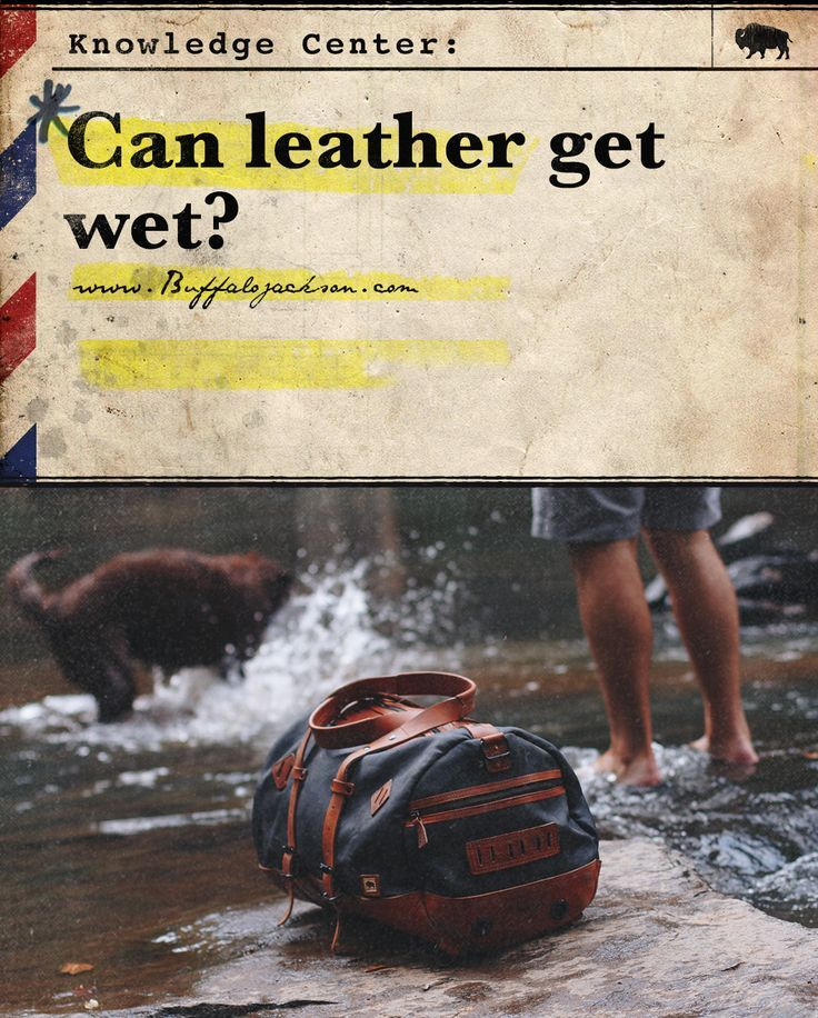Can leather get wet? Sure, leather can get wet - but it's not a great idea. The main problem when you get leather wet actually arises as the leather dries.