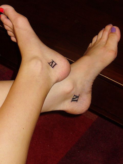 We could get X's for 10/10, your Arrival Day, which is the day we became sisters for realz. Maybe white (or brown) ink