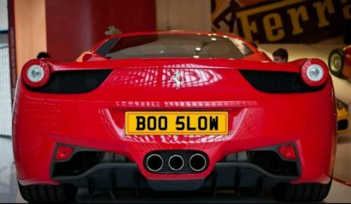 Boo slow cherished number #plates / #funny/ #fast/ joke,  View more on the LINK: http://www.zeppy.io/product/gb/2/252401564115/