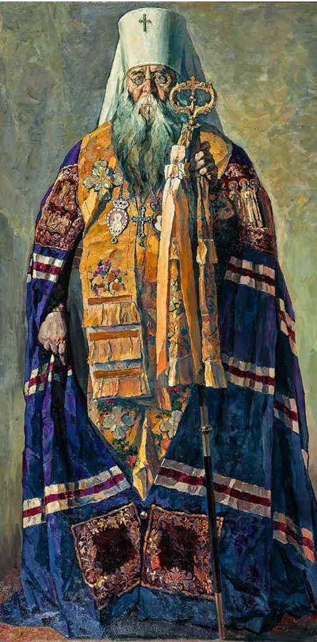 Metropolitan Sergius. 1937 - Pavel Korin (Russian, 1892-1967) - Tretyakov Gallery.