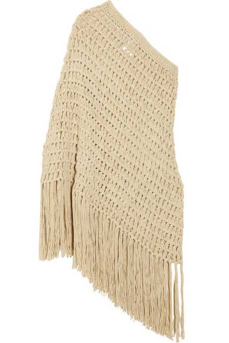 Michael Kors Crochet-knit cotton-blend poncho dress