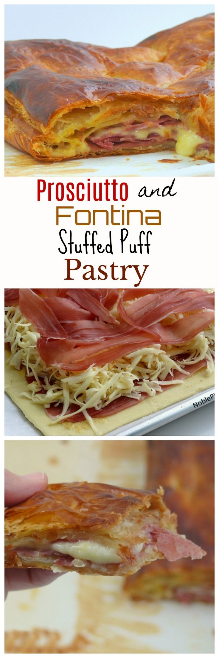 VIDEO + RECIPE: This hot and cheesy PROSCIUTTO and FONTINA STUFFED PUFF PASTRY is going to take your appetizer game to another level from NoblePig.com. via @cmpollak1