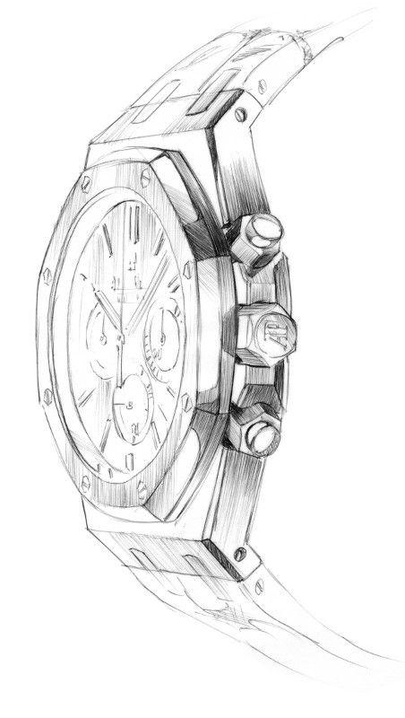 Нарисованные наручные часы фото