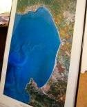Framed Monterey Bay Satellite Photo Poster. Fantastic satellite photo of the Monterey Bay and bordering towns such as Santa Cruz, Capitola, Carmel, and Monterey! Large--measures 25 by almost 40 inches in the frame. Great conversation piece for your living room wall. Resolution is good enough to pick out individual houses.Frame is black metal with glass. Picture hanging wire in back.Glass has small crack in lower right corner, so I'm offering the print and frame (with broken glass) for only…