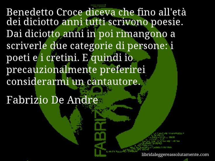 Cartolina con aforisma di Fabrizio De Andre (34)