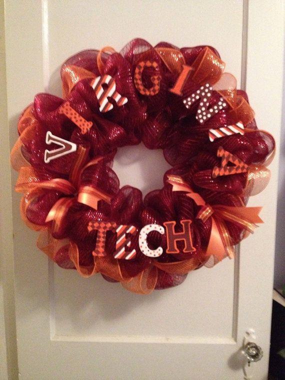 Virginia Tech Graduation Collegiate Team Spirit Wreath on Etsy, $65.00