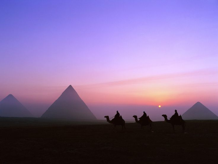 Trecking at the Pyramids of Giza...especially at this time of the evening.