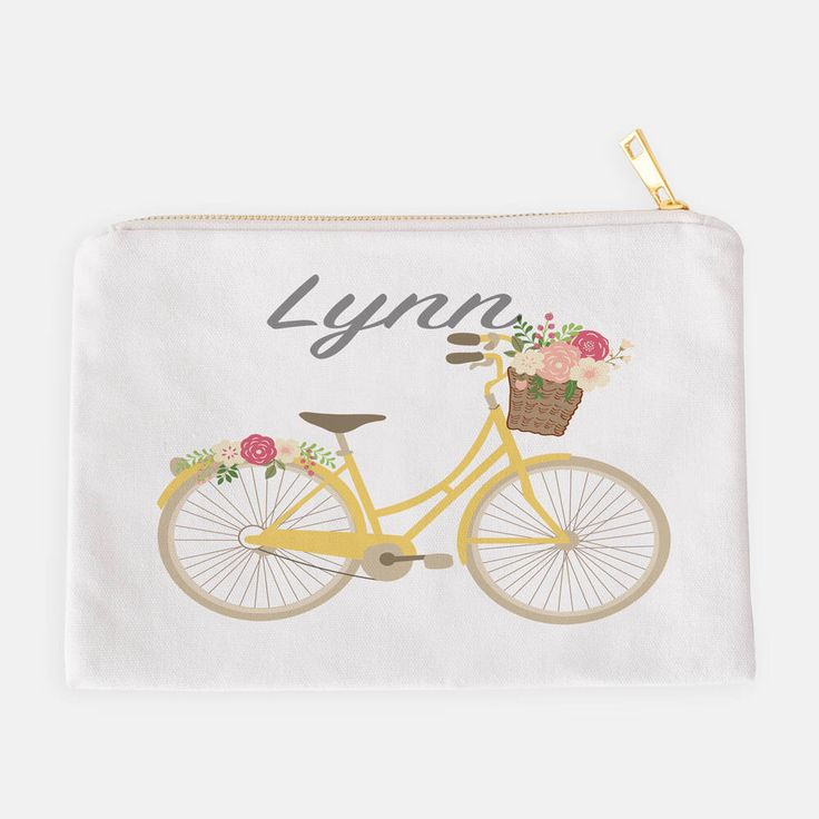 Personalized Pouch, Pencil Case, Makeup Bag, Cosmetic Pouch, Custom Pencil Case, Summer Pouch, Kids Pencil Pouch, Bicycle Pouch, Bike Pouch by JolieJomelieDesigns on Etsy https://www.etsy.com/listing/533189543/personalized-pouch-pencil-case-makeup