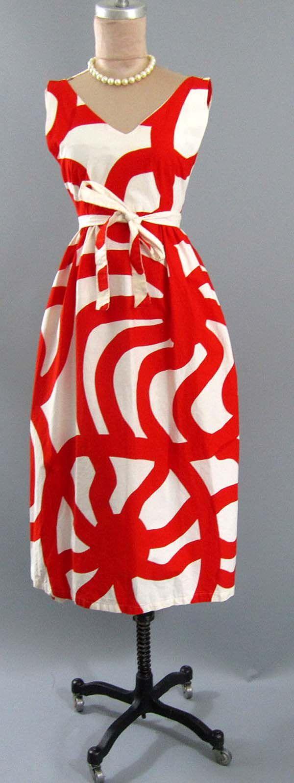 Vintage 60s Joonas 64 Marimekko Fabric Mod Christmas One of A Kind Wrap Dress   eBay