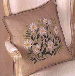 Daisies Cross Stitch Cushion Front 01-4400ER