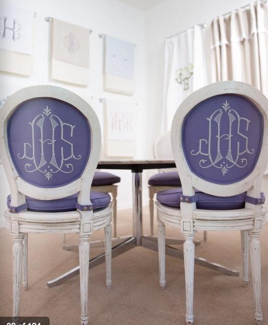 monogram dining chair