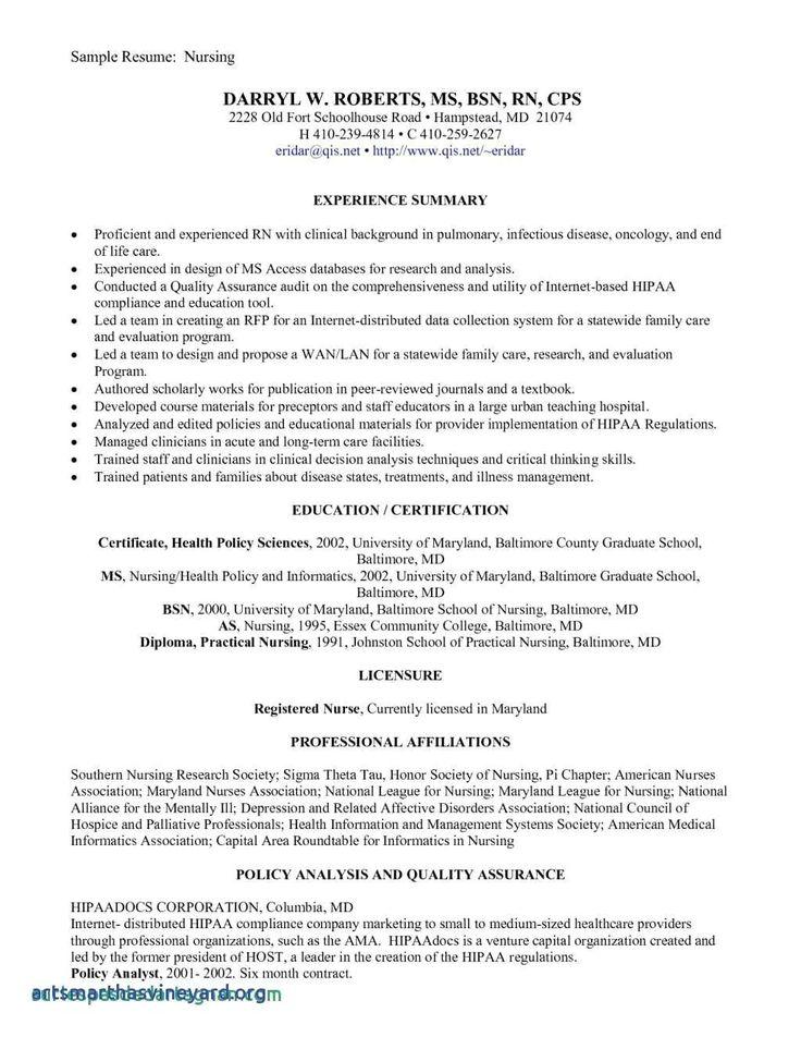 New Grad Registered Nurse Resume Sample Unique Sample