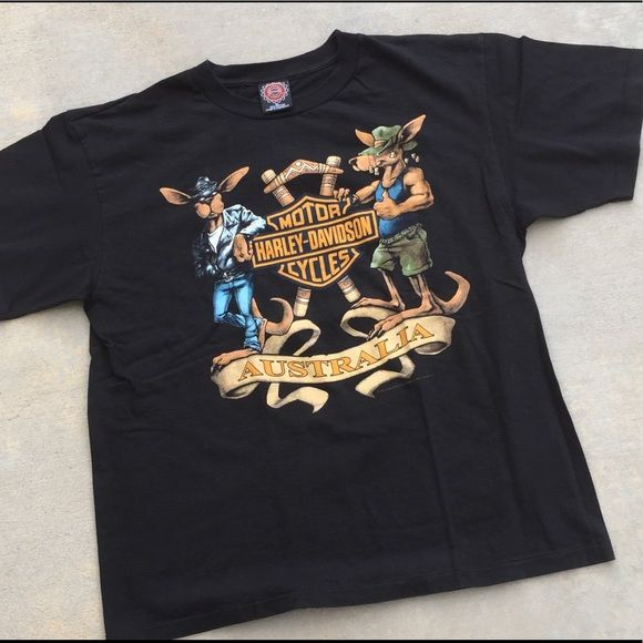 Shop Men S Harley Davidson Black Size Xl Tees Short Sleeve At A Discounted Price At Poshmar Vintage Harley Davidson Harley Davidson Harley Davidson Australia