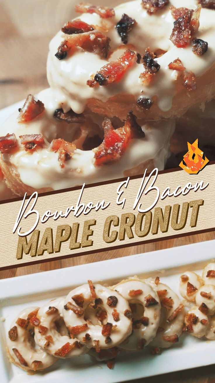 Whether it's breakfast or dessert, this light and fluffy Bourbon Maple Cronut is a decadent and delicious treat that's e…