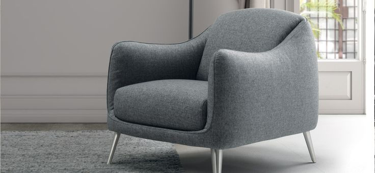 In the Platea chair, the 1960s style has been revisited to create timeless comfort. The outer frame, with its rounded shape, envelops the soft backrest and seat cushion. Platea is the right choice to give style & character to your interior design.  #ItalianDesignerFurniture #LuxuryItalianArmchairs @Natuzzi