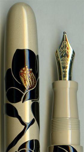 Nakaya Portable Sumi-ko Camellia Flower fountain pen.
