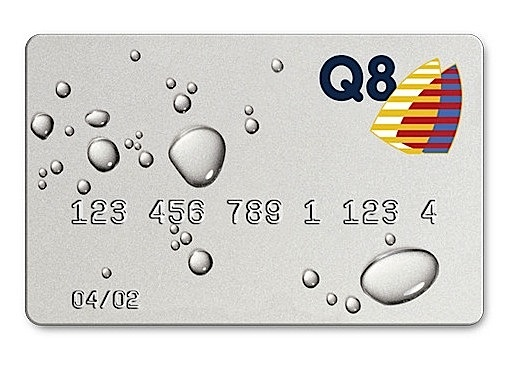 A clever design for a car wash credit card, by the Danish design firm, Mega.