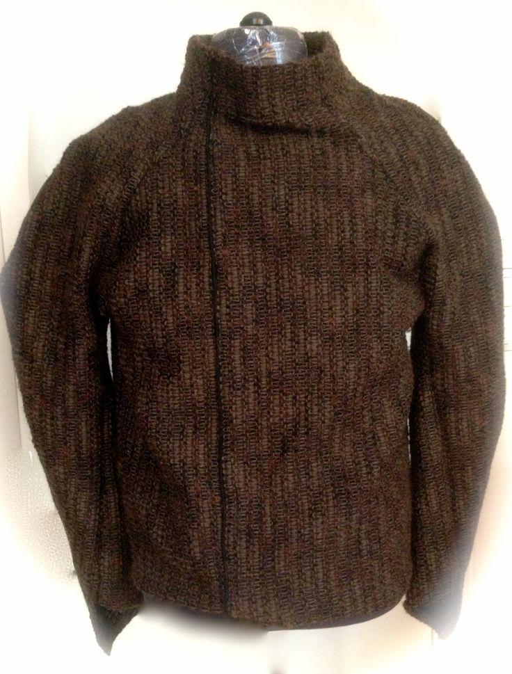 """Steriod Bulk Raglan"" sweater by Rawmence . knitted fabric -  autumn 2015 BY Walter Heidkampf"