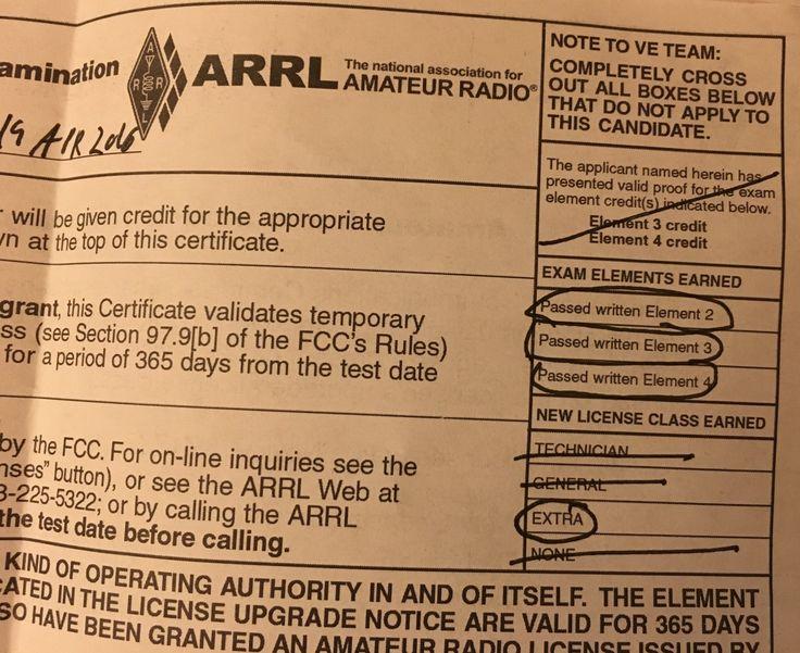 "Congrats Ladyada – HAM license and getting to amateur ""Extra"" @adafruit @arrl #HamRadio"