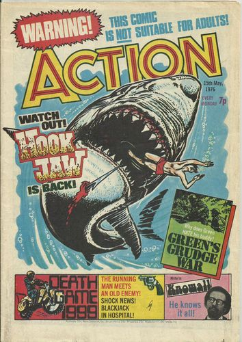 ACTION UK Comic 15th May 1976 Pre Ban Issue