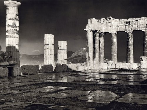 Fréderic Boissonnas - The Parthenon after the rain, 1908