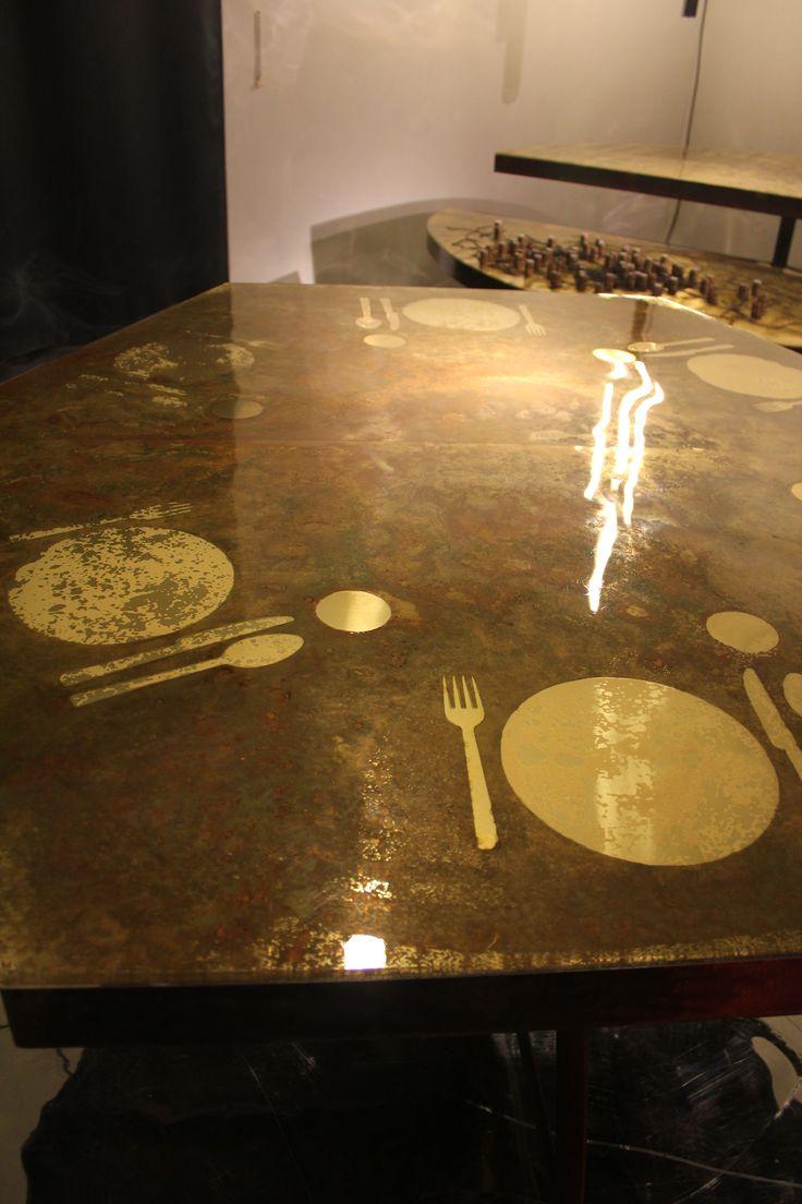 "Carlo Trucchi. The best. KAGADATO selection. *************************************""Apparecchiato per Sei"", 2015, Italy.  #erastudioapartmentgallery #erastudio #designgallery #collectibledesign #design #gallery #milan #italy #igersmilano #carlotrucchi #table #resin #wood #glass #uniquepiece #agedbrass #brass #apartmentgallery #apartment #ambience #places #placetobe #apparecchiatopesei #details #artwork #handmade #contemporary #interior #italiandesign #craftmanship #plates #madeinitaly…"