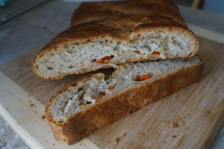 Пшенично-ржаная лепешка на закваске с начинкой: your_food_today