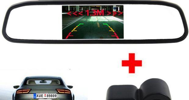3in1 Звуковой Сигнал Автомобиль Видео Датчики Парковки Помощь Камера Заднего вида + 4.3 дюймов Автомобиль Зеркало Заднего Вида Монитор 2155,10 руб  / шт   Бесплатная доставка  Прикупить в этом месте