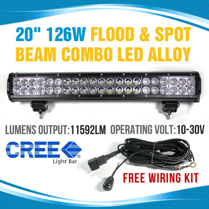 126W CREE LED Light Bar FLOOD SPOT COMBO ALLOY Work Light 4WD BOAT UTE DRIVING 120w