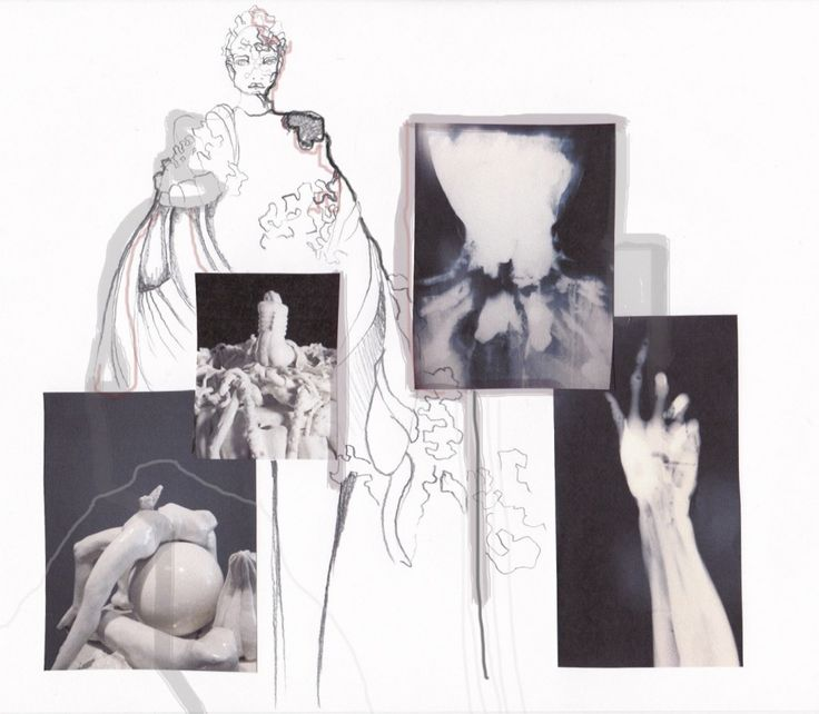 Fashion Portfolio - fashion design board; fashion illustration; fashion sketchbook layout // The White Series, Ewgeniya Lyras