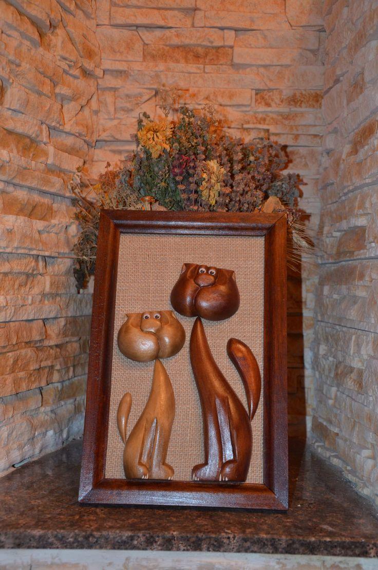 Funny animaldecorWood painting Wood by SteelWoodStoneSWS on Etsy