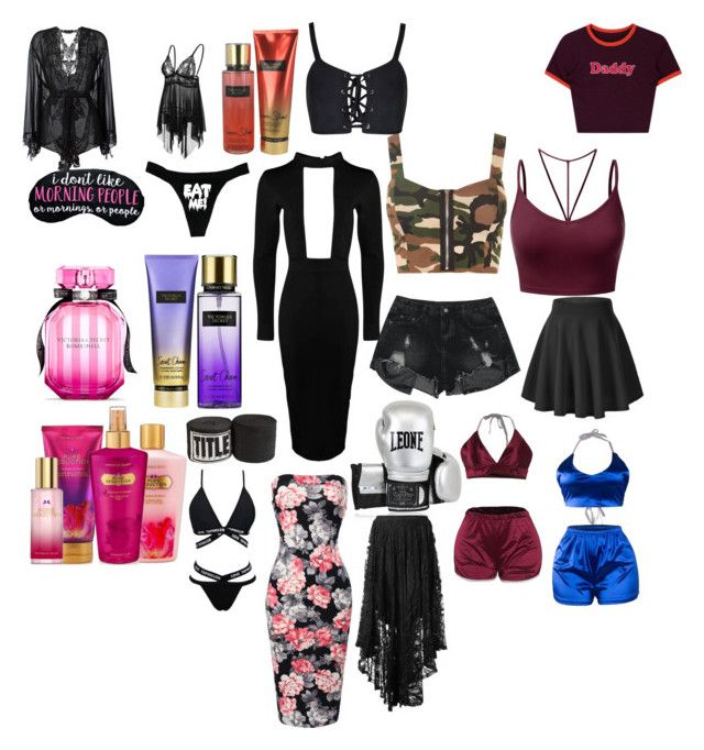 """""""What she bought from the mall"""" by animewolf-354 ❤ liked on Polyvore featuring Victoria's Secret, Boohoo, WearAll, J.TOMSON, Leone 1947, Belle Et BonBon and Spell"""