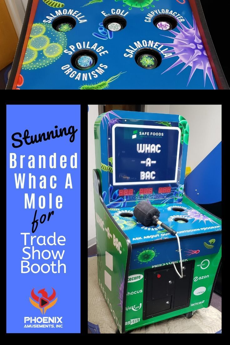 Stunning Custom Branded Whac A Mole Arcade for Trade Show