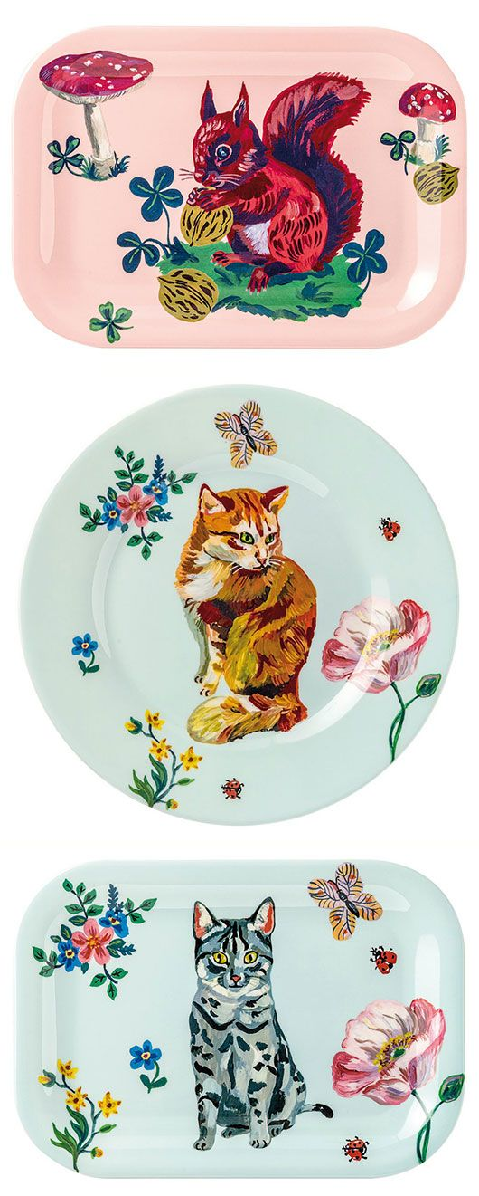 ceramic dishware featuring art by nathalie lete / sfgirlbybay