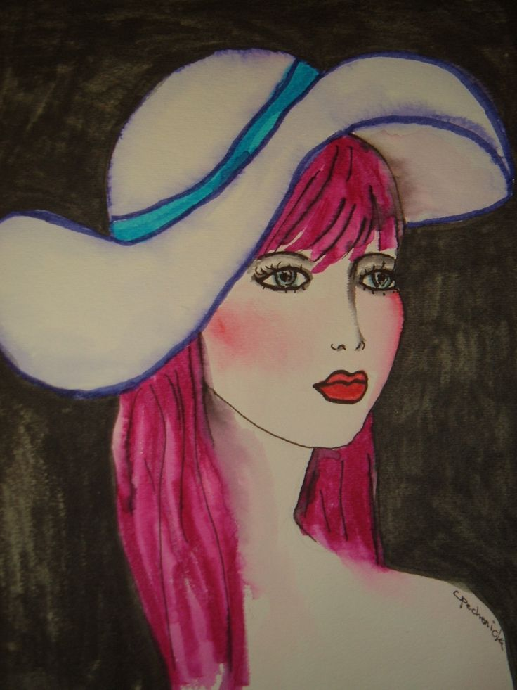 girl with the great hat