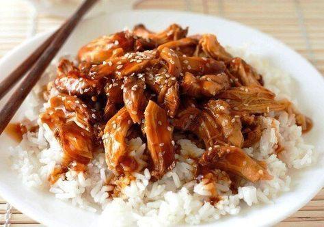 Курица в соусе терияки   Ингредиенты:   Куриная грудка — 1 шт. Мёд — 1 ст. л. Томатная паста — 1 ст. л. Соевый соус — 1 ст. л. Кунжутные семечки — 0,5 ст. л.