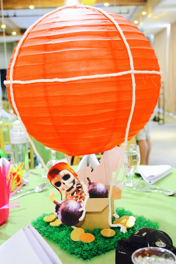 Clans Centerpiece Party Ideas Balloon Clash Of Clans Ideas