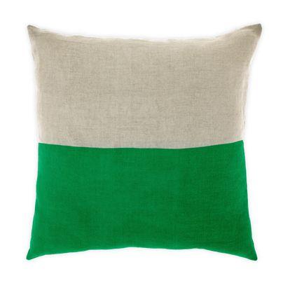Dipped cushion in Emerald 50cm