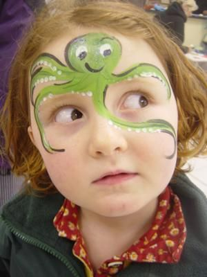 octopus face paint- kids by elvira