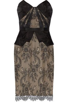 Notte by Marchesa Lace and organza dress | NET-A-PORTER