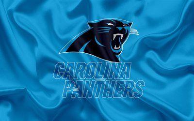 Descargar fondos de pantalla Carolina Panthers, fútbol Americano, logotipo, emblema, la NFL, la Liga Nacional de Fútbol, Charlotte, Carolina del Norte, estados UNIDOS, de la Conferencia Nacional de Fútbol libre. Imágenes fondos de descarga gratuita