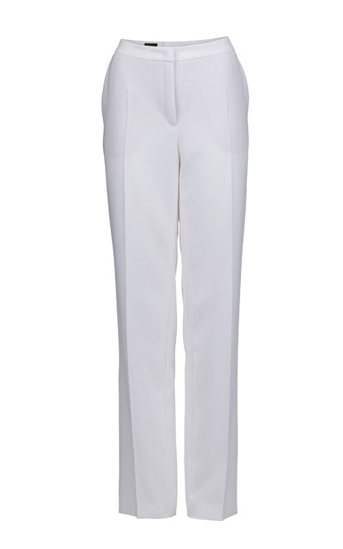 Get the business look with these pure white #Escada trousers.